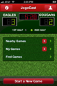 JogoCast iPhone Soccer App Home