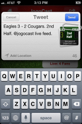 JogoCast iPhone Soccer App Tweet